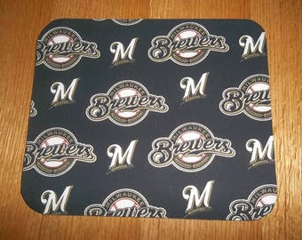 Milwaukee Brewers Mouse Pad Mouse Pads Desk Accessories, Baseball MousePad Rectangle Mouse Mat Office Decor Handmade Computer Accessories