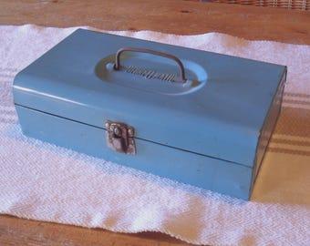 Vintage Bernz-O-Matic Turquoise Metal Box