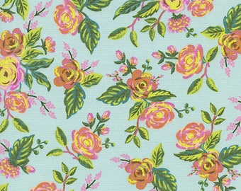 Ready to ship! Menagerie Jardin de Paris in Mint - by Rifle Paper Co for Cotton+Steel - 100% cotton quilting fabric by the yard