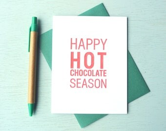 Letterpress Holiday Card - Happy Hot Chocolate Season - HPS-145