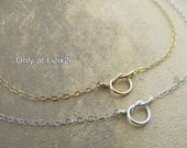 ON SALE Tiny Knot Necklace, Tie the Knot Necklace, Handmade Teeny Tiny Knot, Gold Fill//Sterling Silver, Bridesmaids Necklace, Bridesmaids J