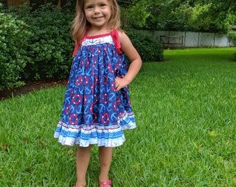 Girl's 4th of July dress and bloomers.