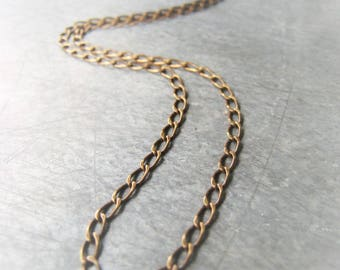 Gold Chain Necklace  Antique Gold Curb Chain Chain Item No. 0433 8515