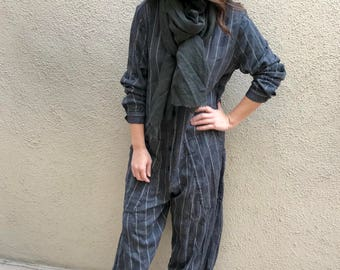 Button down Flightsuit in viscose jaquard