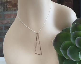 Rose Gold Filled Triangle Layered Necklace