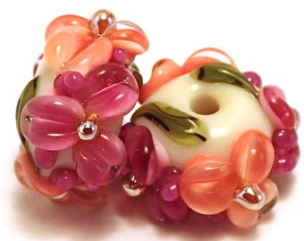 Tequila Sunrise Gilded Floral Spacers