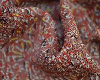 Unique Deco Look Intricate Abstract Floral, Chirimen Crepe Silk: Haori Kimono Jacket