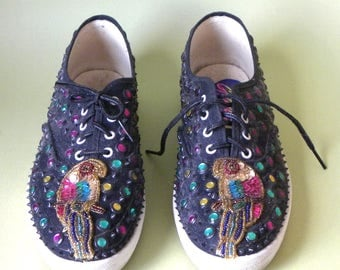 Glitzies Sequined Decorated Sneakers