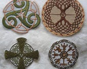 Style Choice - Large Machine Embroidered Celtic Viking Patch Badge Iron On
