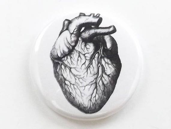 Medical Anatomy anatomical Heart one fridge magnet button pin anatomy coaster mirror bottle opener stocking stuffer goth gift refrigerator