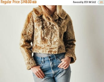ON SALE Vintage Short Fur Coat