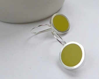 Yellow Earrings -  Sulphur Yellow Drop Earrings - Yellow Jewellery - Birthday Gift for a Friend - Pop Drop Earrings