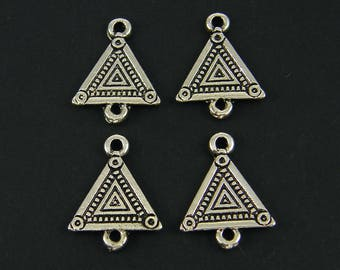 Antique Silver Earring Link Triangle Earring Triangle Jewelry Connector Link Oxidized Earring Jewelry Finding Component  S5-17 4