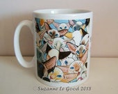 Siamese Cat Ceramic mug coffee, tea, from my original painting sealpoint, chocolatepoint, redpoint, tabbypoint, tortiepoint Suzanne Le Good