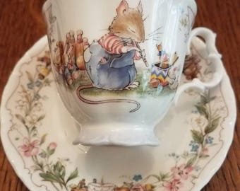 Brambly Hedge  Royal Dalton Birthday Tea Cup & Saucer 1987