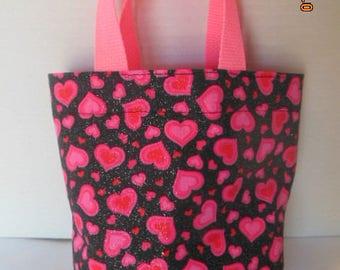 Valentine Hearts Tote/Gift Bag