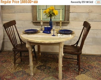 "ON SALE Driftwood Dining Room Table (38"" Round x 29""H)"
