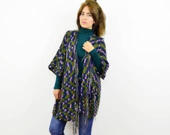 Handmade tassel cardigan, Winter cardigan, Short cardigan, Boho knit cardigan, Tassel cardigan, Oversized cardigan, crochet cardigan