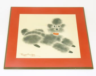 French Poodle Wall Plaque Margaret Ann Gaug