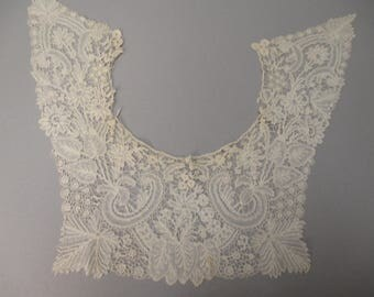 Antique Duchesse lace collar handmade Victorian