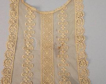 Antique lace yoke from Victorian era dress