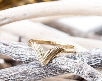 40% Off Bronze Take Flight Ring   Double Wing Ring   Nature Inspired   Bronze Statement Ring