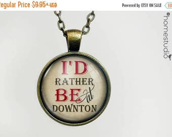 ON SALE - Downton : Glass Dome Necklace, Pendant or Keychain Key Ring. Gift Present metal round art photo jewelry by HomeStudio