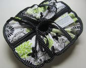 RESERVED for Julie /Casserole Carrier / 9 X 13 / Large / Insulated / Hot or Cold Foods / Bridal Gift / Butterflies / Lime / Black / Gray