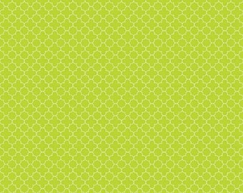 20EXTRA 30% OFF Riley Blake Mini Quatrefoil Lime