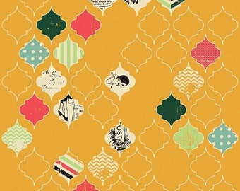 EXTRA20 25% OFF Fancy And Fabulous Loving Life Yellow - 1/2 Yard