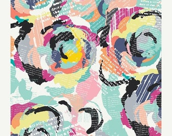 ON SALE Capsules Letters by Art Gallery Fabrics - Roses & Letters