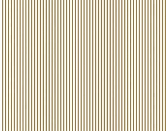ON SALE Riley Blake Basic Sparkle Gold Stripe On White