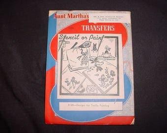 Vintage 50s Textile Painting Aunt Martha Hot Iron Transfers Uncut