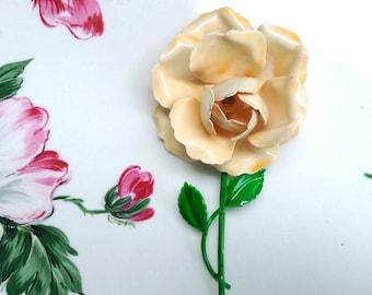 Larger Than Life Rose Brooch