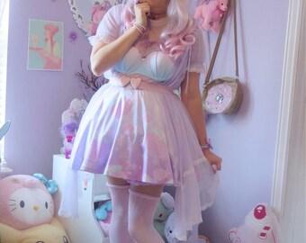 Cult Sea Shell Cross skirt, Fairy Kei Skirt, Kawaii Skirt