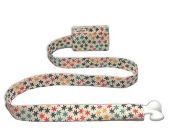 Multicolored star TuneTube. Earbud cord organizer for iPhone or iPod. Cord keeper. Earbud holder. Earbud case.