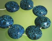 CUSTOM ORDER, please do not buy it - Magic Frost - Handmade Lampwork Beads Set (SRA)