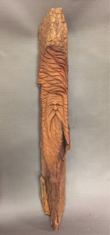 wood spirit walking stick. wood spirit walking stick