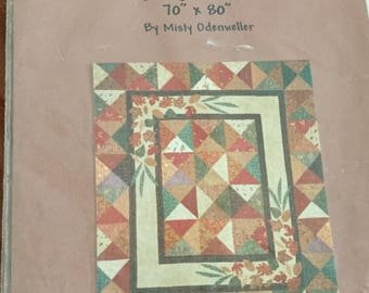 Vintage Cozy by the Fire 70 x 80 Inch Quilt Pattern, Uncut