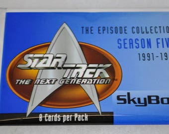 1996 Skybox Star Trek The Next Generation Season 5 Trading Cards Complete Box of 48 Sealed Packs