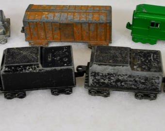 Lot of 7 Midgetoy Train Cars