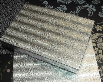 STOREWIDE SALE 100 Pack Cotton Filled Silver Foil Jewelry Gift Presentation Boxes 8.25 X 5.75 X 1.25 Inch Size