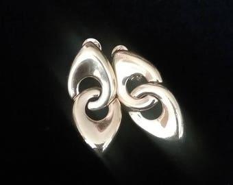 Clip On Earrings, Vintage Earrings, Vintage Clip On Earrings, Dangle Earrings, Monet Jewelry, Monet Earrings
