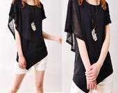 SALE - Leaves 3.1  - asymmetrical layered top (Y3108)