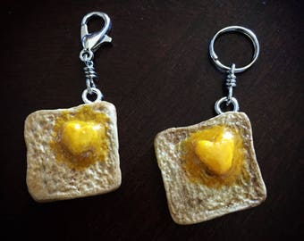 Love Toast: Deliciously Toasted with a Butter Heart Stitch Marker for Knitters & Crocheters