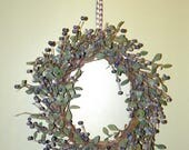 Blueberry Harvest Wreath on a Birch Branch Base 20 Inch Wreath, Perfect for Your Entrance, Living Room, Dining, Kitchen, Bedroom, Bath