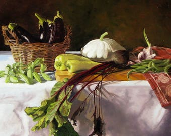 """Original Oil Painting (by me) on Stretched Linen - """"One Day's Harvest"""""""