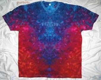 ice dye, 2xl tie dye, inkblot ice dye, next level tee, mens fine jersey, ice dye by grateful dan dyes, inkblot test, tye dye