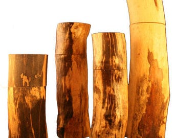 "8"" or 9"" Pepper (or Salt) Mills from Spalted Maple Tree Branches"