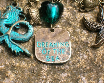 dreaming of the sea, steampunk nautical oceanic kilt pin/brooch